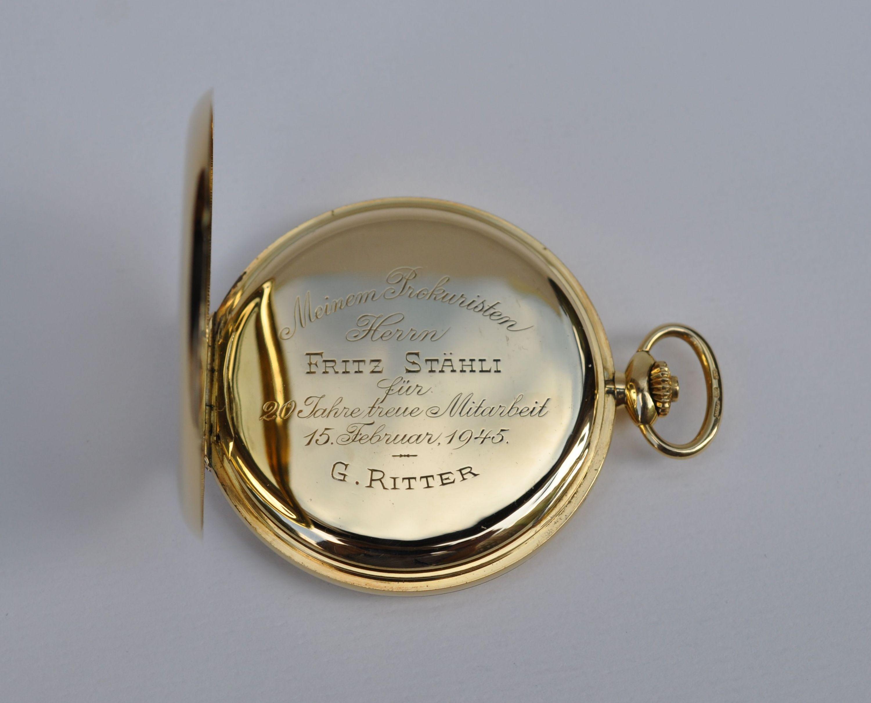 4d7a6565731 zlaté švýcarské pánské kapesní tříplášťové hodinky IWC Schaffhausen